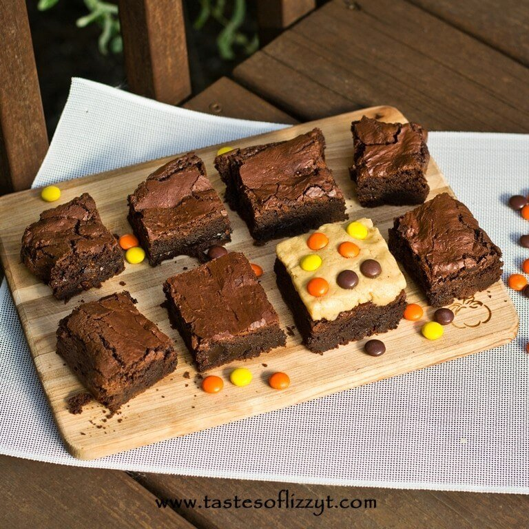 Reeses Peanut Butter Brownies {Tastes of Lizzy T}