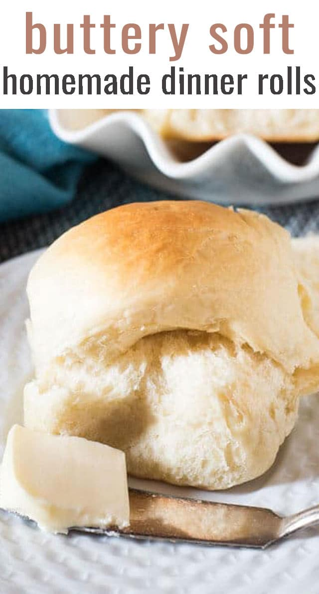 Buttery Soft Rolls are the best and simplest homemade dinner rolls ever. They're super soft and perfect with any soup, salad or main dish. via @tastesoflizzyt