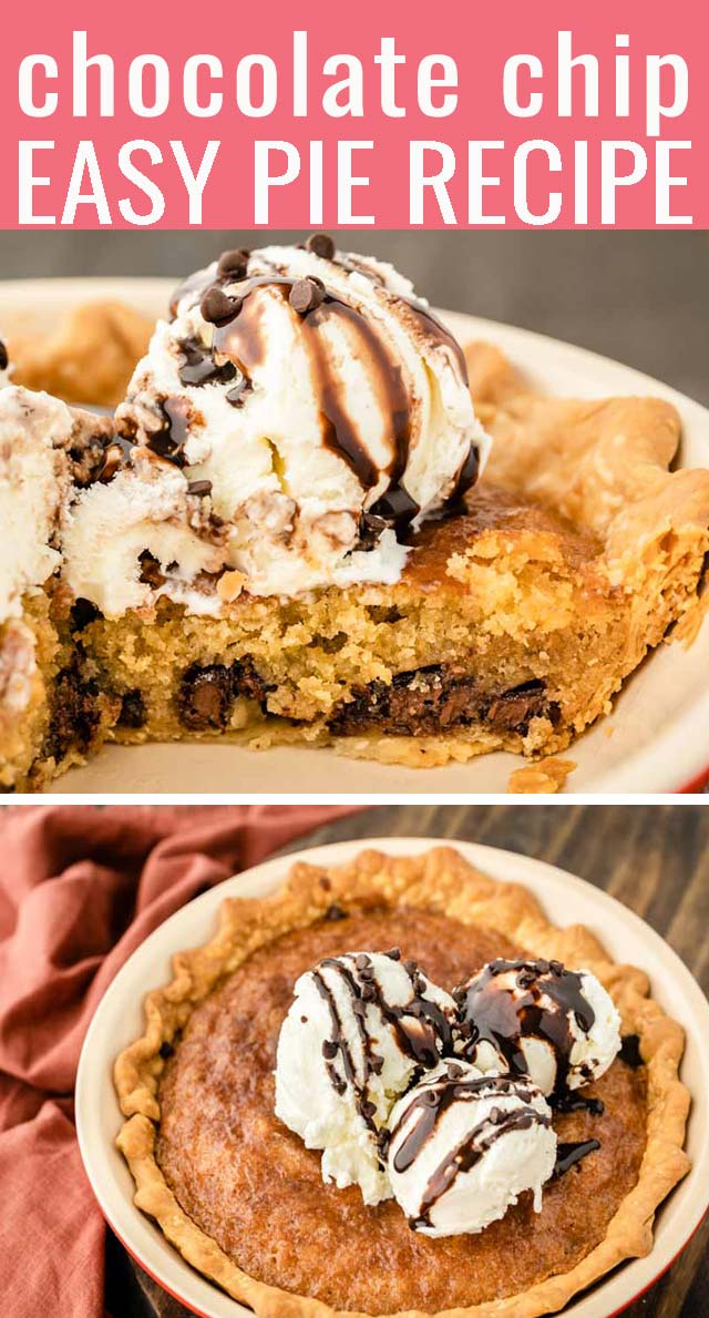 Nothing much beats fresh cookies from the oven chocolate chip cookies. Until, that is, my mom introduced me to a dessert called Chocolate Chip Pie. via @tastesoflizzyt