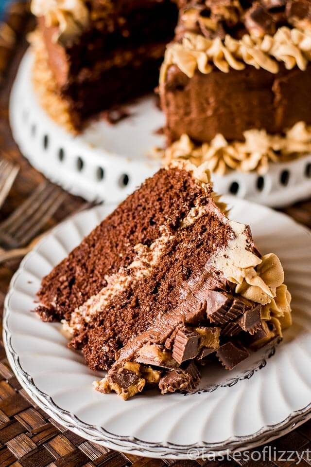 Chocolate And Peanut Butter Cake From Scratch