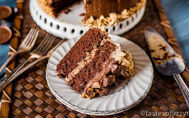 Homemade Chocolate Cake Peanut Butter Frosting: Reese's Cake {Homemade Chocolate Cake With Chocolate And