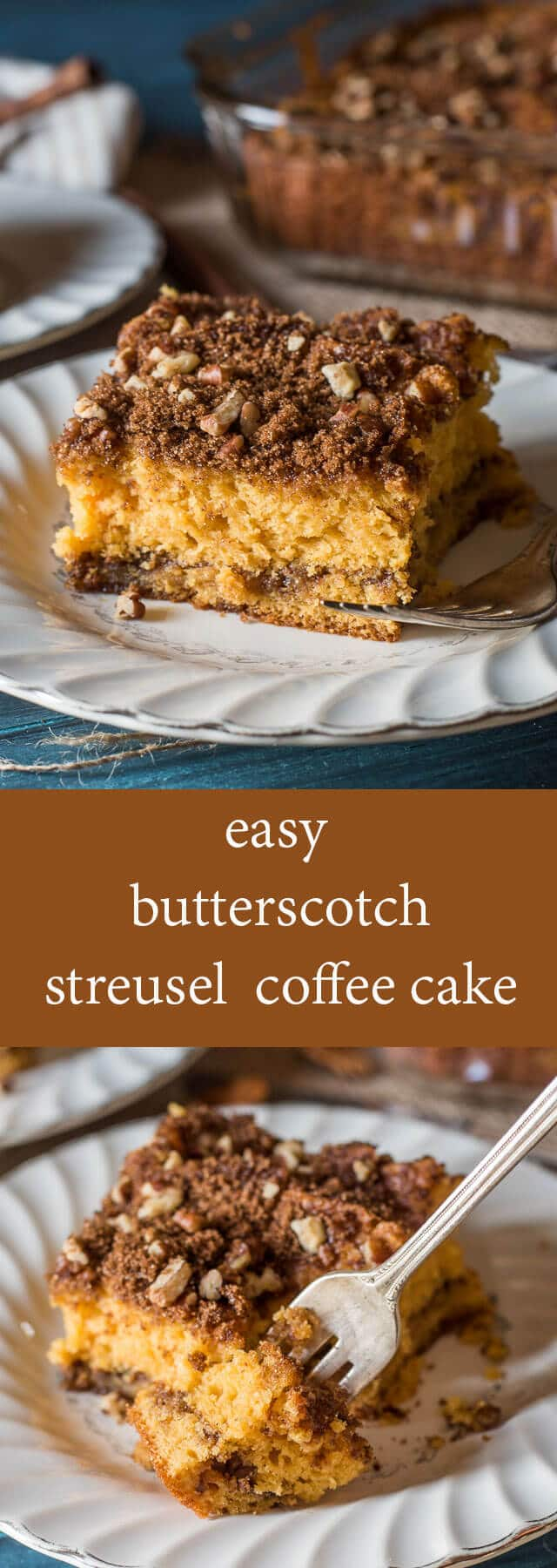 This easy morning Butterscotch Coffee Cake is moist, spongy cake with ...