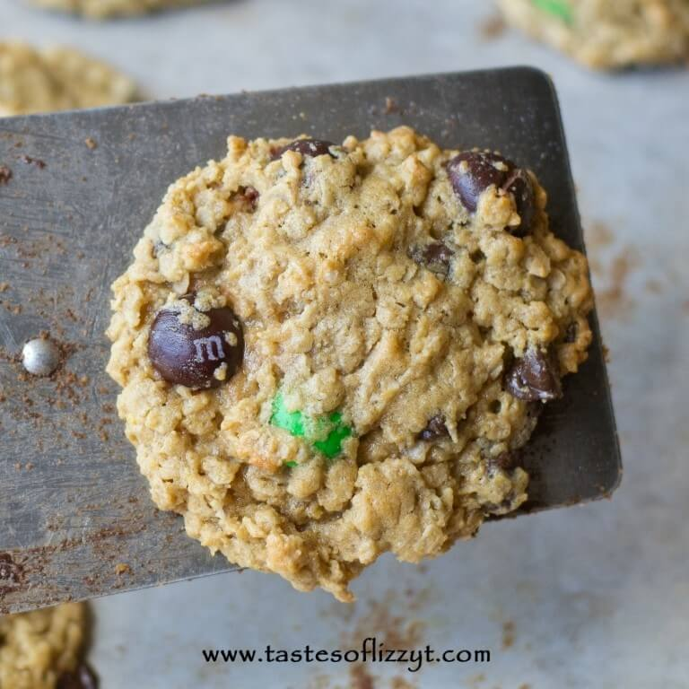 Peanut Butter M&M Monster Cookies