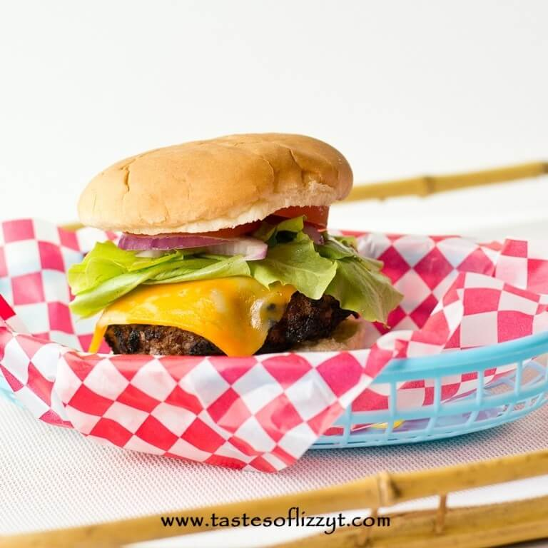 Cola Burgers are a twist on a traditional burger. A french dressing and cola basting sauce give your burger a perfectly grilled flavor!