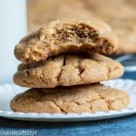 easy peanut butter cookies with a bite out