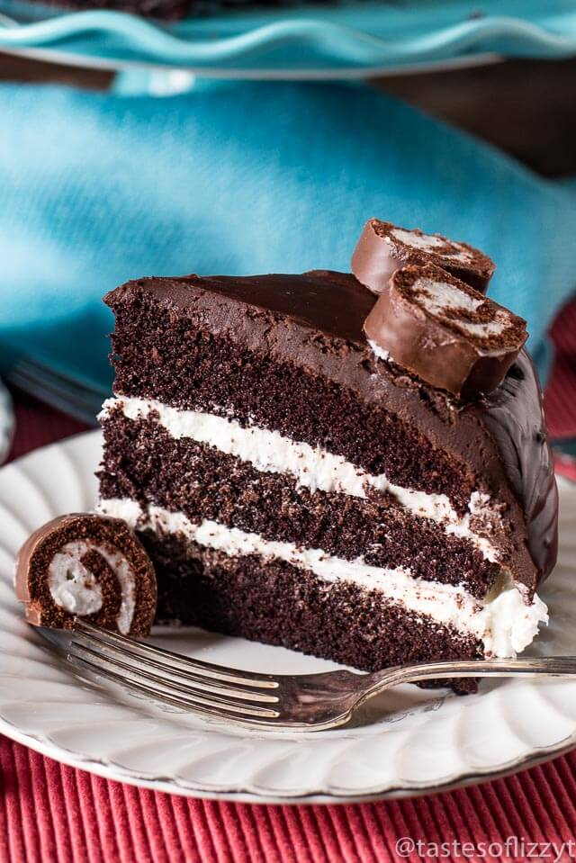 Ho Ho Cake {Layered Chocolate Cake with White Frosting ...