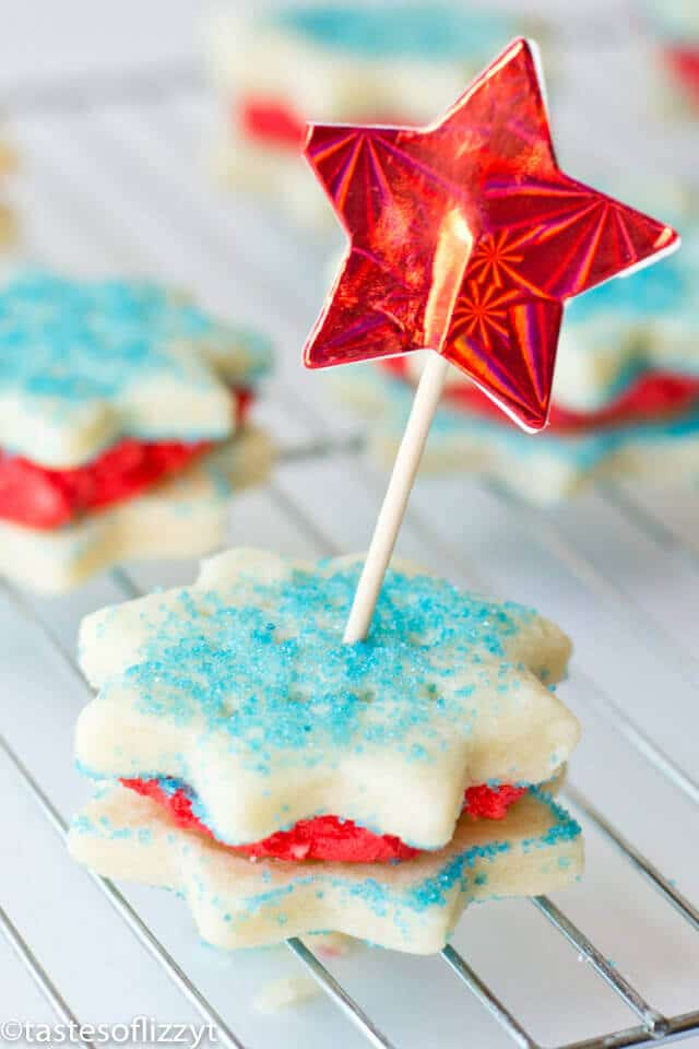 Cream Wafer Sandwich Cookies made with cream, flour and sugar melt in your mouth. Decorate them in any shape or color for each holiday. Kids love them!