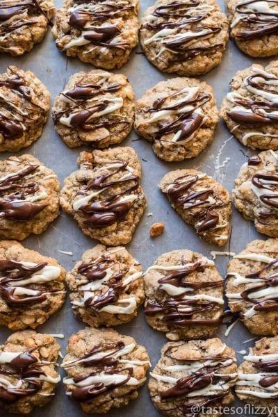 Honey Roasted Chocolate Oatmeal Cookies