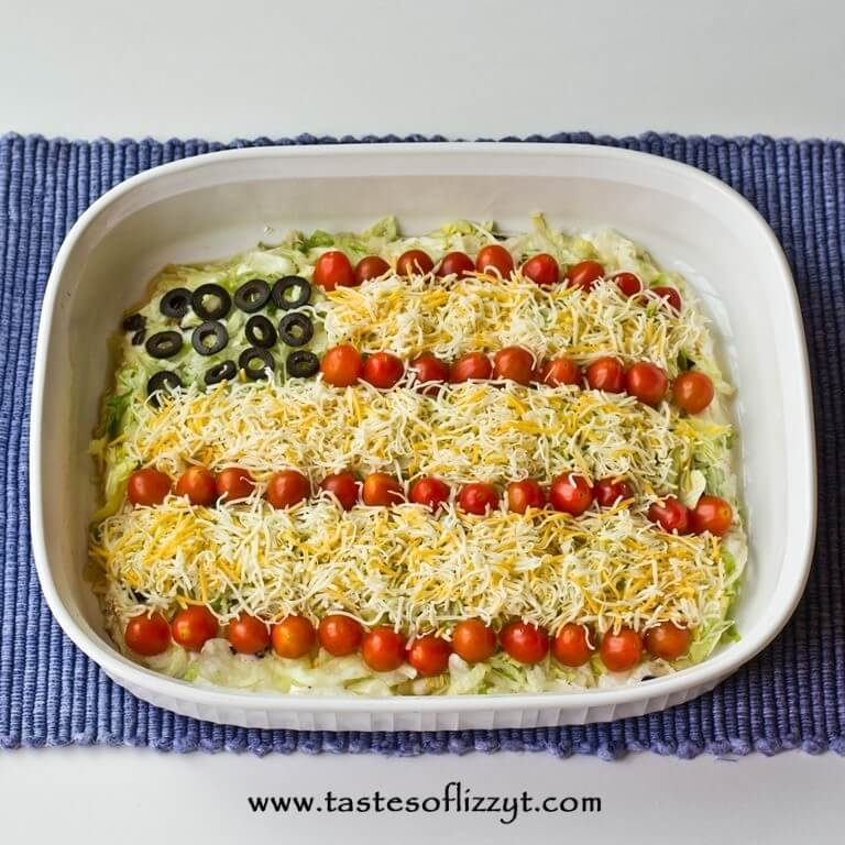 Patriotic Layered Taco Dip