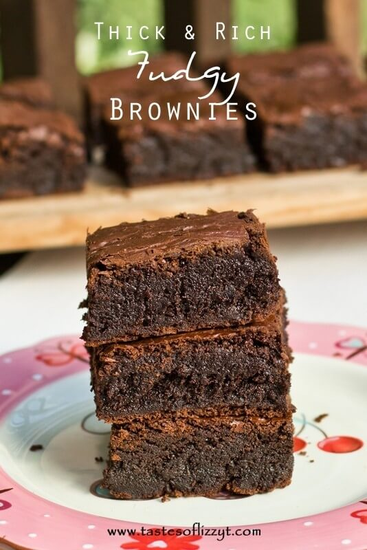Thick & Rich Fudgy Brownies Recipe - Tastes of Lizzy T