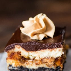 Reese's Butterfinger Cheesecake Bars