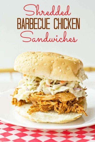 Shredded Barbecue Chicken Sandwiches