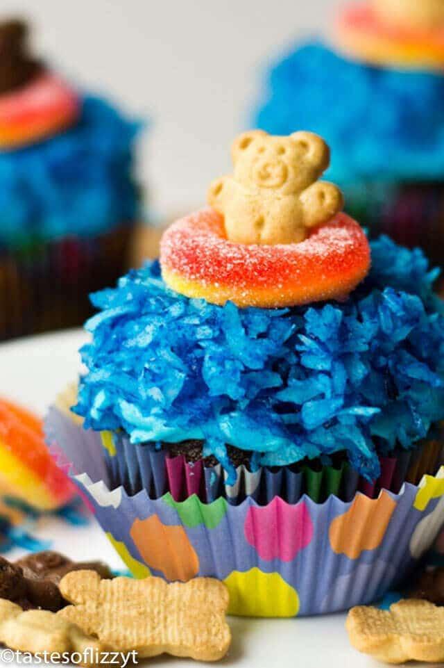 Beach Themed Cupcakes Cute Teddy Graham Cupcake Recipe Ideas