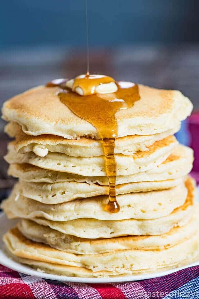 Try these Amish Griddle Cakes for a good, old-fashioned breakfast! This pancake recipe is quick bake cook up fluffy and soft.