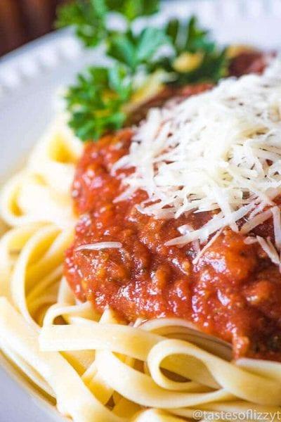 Healthy Homemade Spaghetti Sauce Recipe