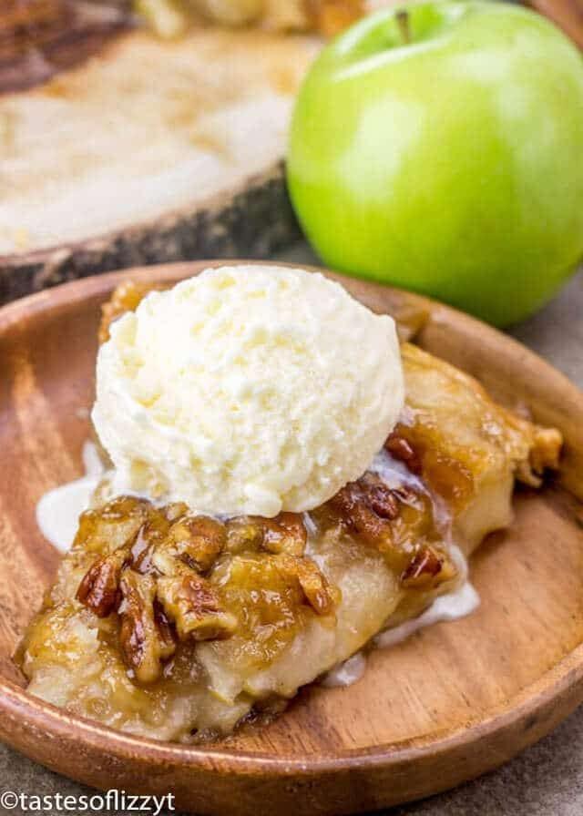 Upside Down Apple Dumpling Pie {Brown Sugar Pecan Syrup}