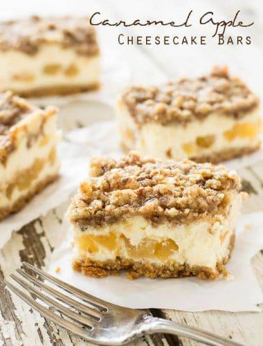 Cheesecake Factory Copycat Recipe for caramel apple cheesecake bars