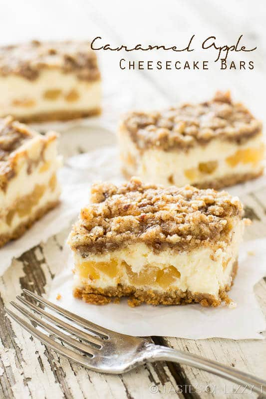 titled image (and shown): Caramel Apple Cheesecake Bars