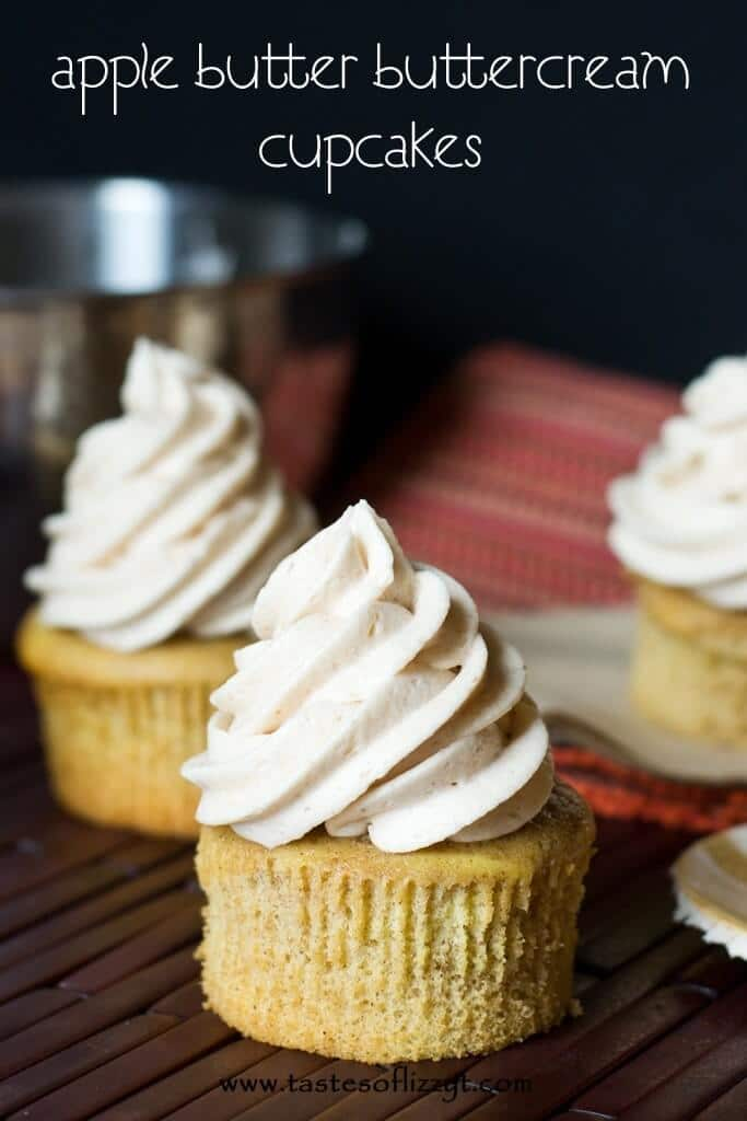 Apple Butter Buttercream Cupcakes {Tastes of Lizzy T}