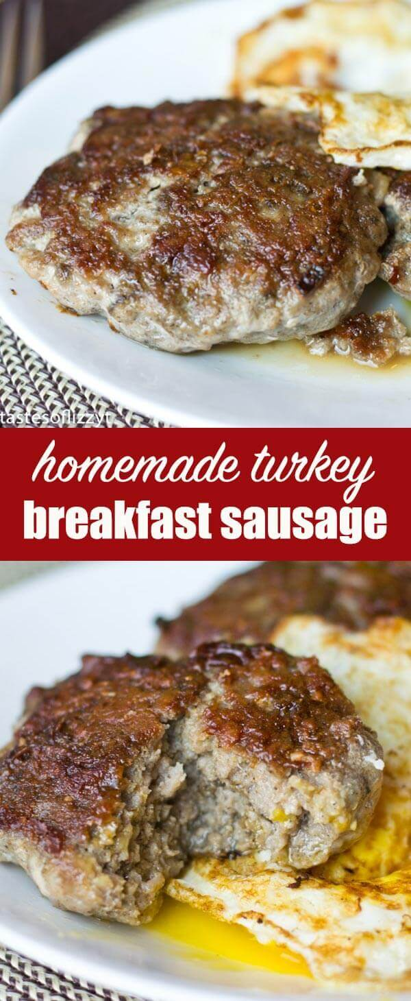 Homemade Turkey Sausage: Use seasonings in your cupboard to make lean breakfast sausages out of ground turkey!