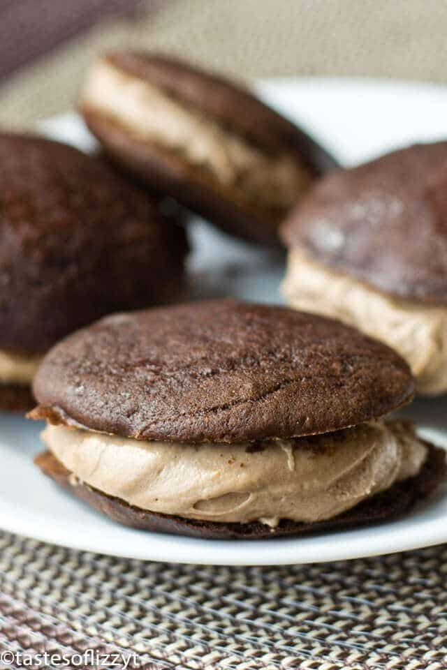 These Amish-style whoopie pies have a delicious mocha flavor. Coffee intensifies the chocolate in this Mocha Whoopie Pie recipe.