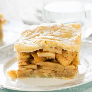 homemade Danish pastry apple pie bars