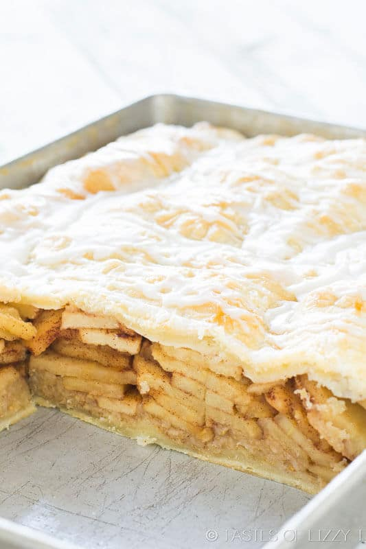 apple pie bars with Danish pastry crust