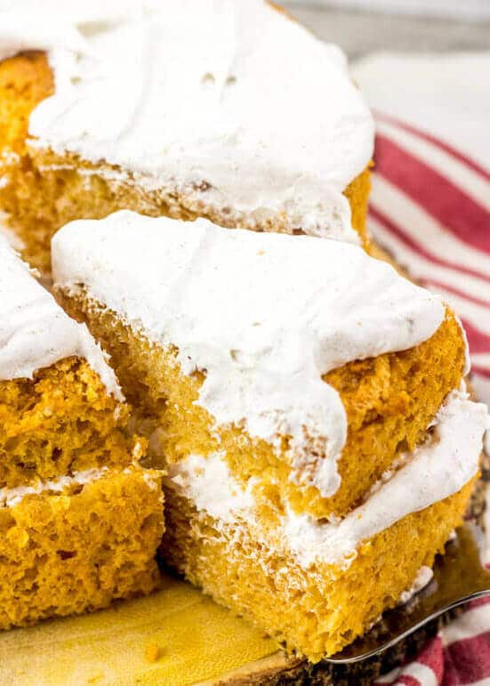 Pumpkin angel food cake recipe with spiced whipped cream topping jump to recipe forumfinder Gallery