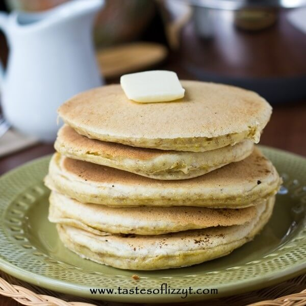 Cornmeal Pancakes with Brown Sugar Maple Syrup Tastes of Lizzy T