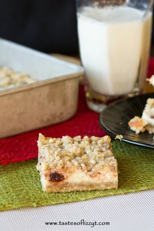 Cranberry Cream Cheese Bars {Tastes of Lizzy T}