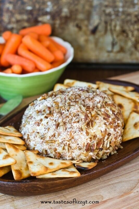 Pineapple Pecan Cheese Ball {Tastes of Lizzy T}