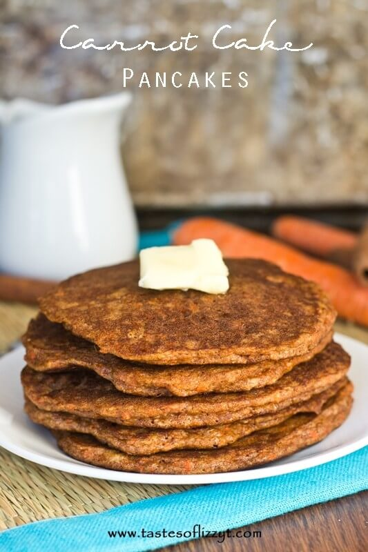 Carrot Cake Pancakes {Tastes of Lizzy T} - Tastes of Lizzy T's