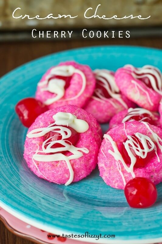 Cream Cheese Cherry Cookies {Tastes of Lizzy T}