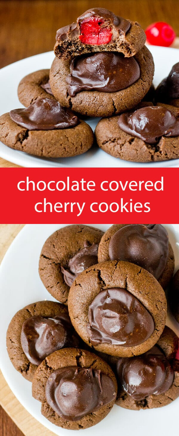 Chocolate Covered Cherry Cookies - Tastes of Lizzy T's