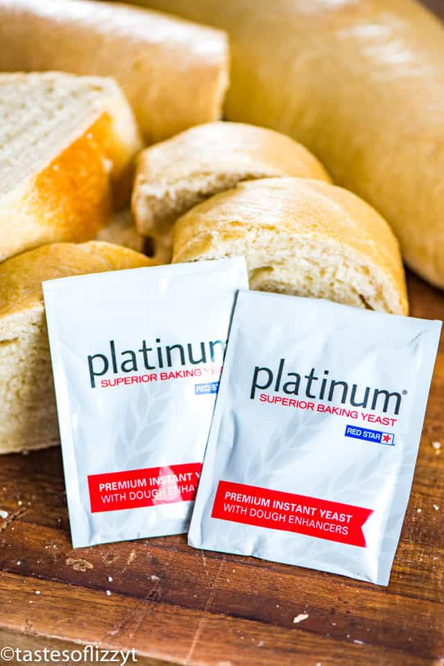platinum baking yeast packets with bread