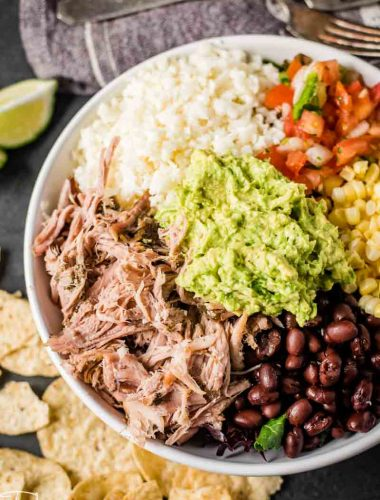 Slow Cooker Pork Carnitas in bowl
