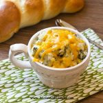 dish of spinach mashed potatoes