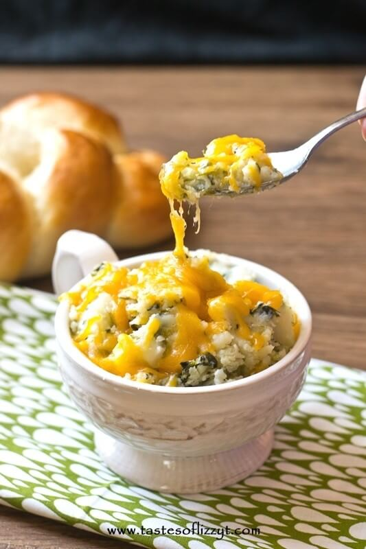 Spinach Mashed Potatoes I Tastes of Lizzy T I