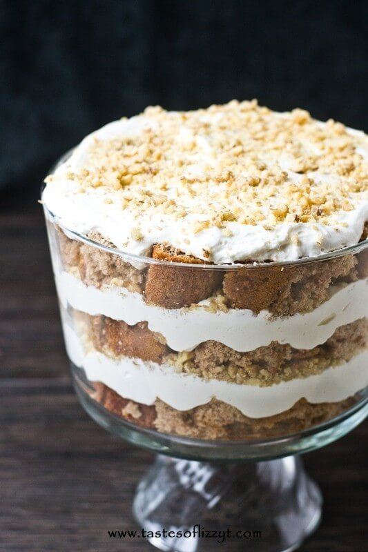 Cream Cheese Carrot Cake Trifle I Tastes of Lizzy T I