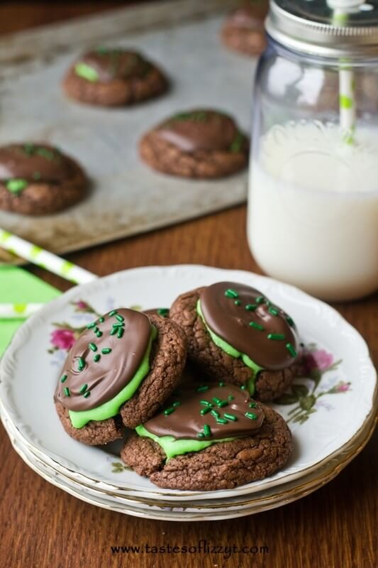 Peppermint Patty Brownie Cookies I Tastes of Lizzy T I