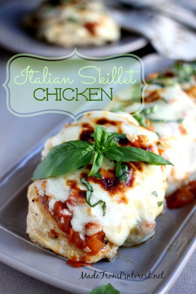Italian skillet chicken simple and fresh 35 minute dinner idea italian skillet chicken easy dinner idea tomato sauce with fresh tomatoes chicken parmigiana sisterspd