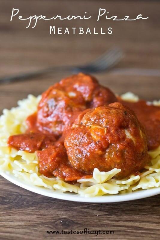 Pepperoni Pizza Meatballs I Tastes of Lizzy T I