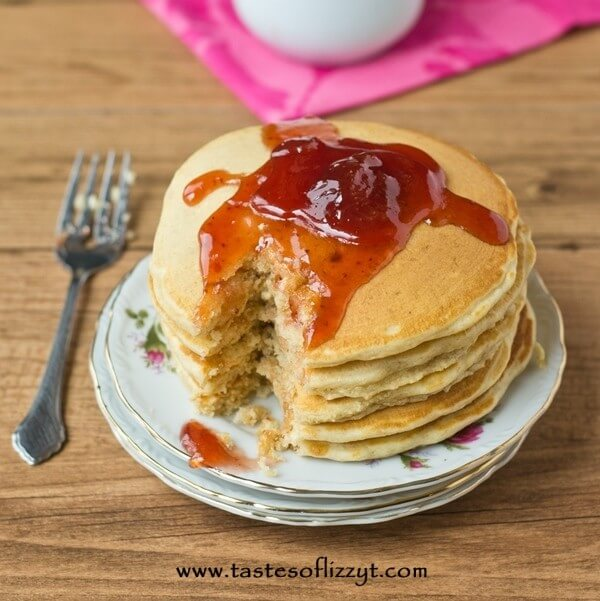 Peanut butter and jelly pancakes the classic sandwich turned into a peanut butter and jelly pancakes the classic sandwich turned into a breakfast ccuart Images