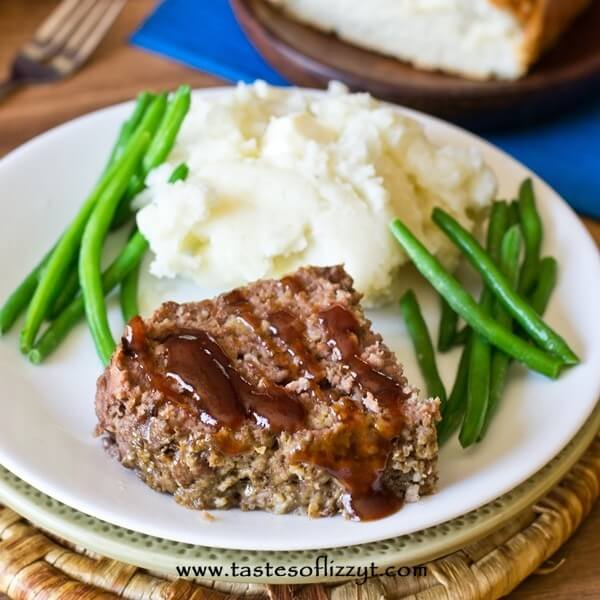 slow cooker meatloaf with green beans and potatoes