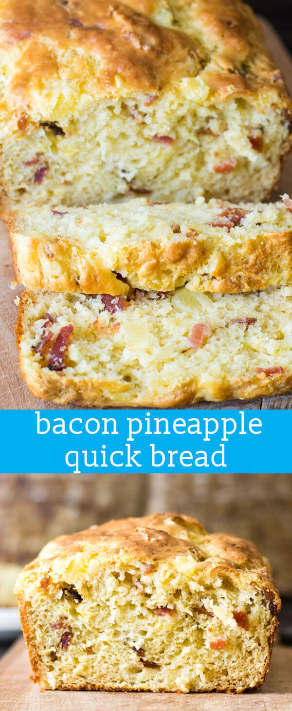 Bacon Pineapple Bread {Savory Quick Bread Recipe Perfect with Soup or Salad} bacon bread / bread with bacon / bread with pineapple / recipe