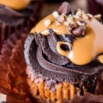 Chocolate Caramel Turtle Cupcakes