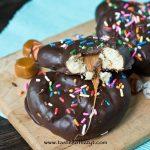 Chocolate Covered Caramel Sourdough Pretzels