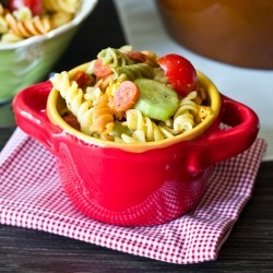 Classic Pepperoni Pasta Salad I Tastes of Lizzy T I Summer picnic comfort food at its best