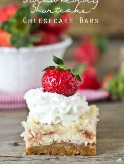 Strawberry Shortcake Cheesecake Bars title image