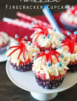 Twizzler Firecracker Cupcakes title image